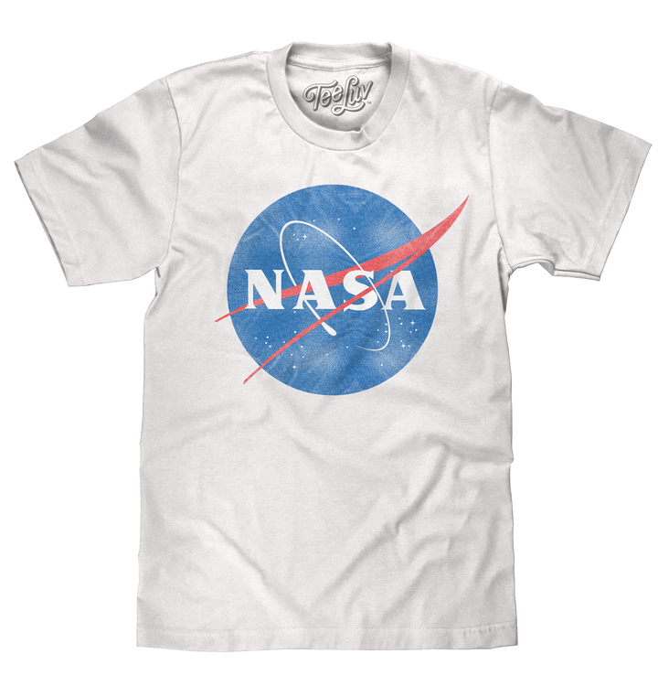 Distressed NASA Logo T-Shirt - White