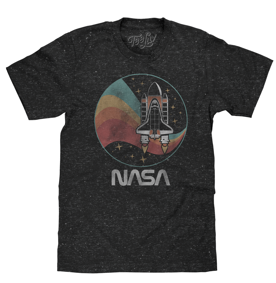 NASA Worm Shuttle Logo T-Shirt - Black