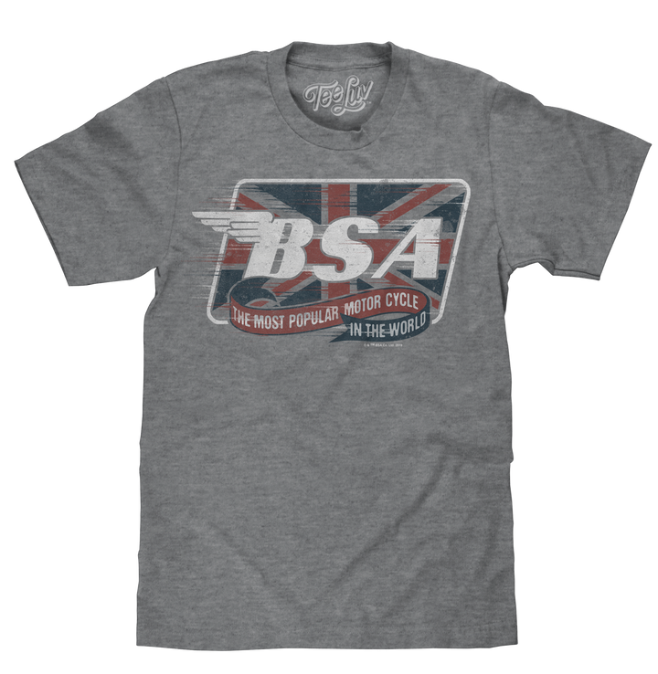 BSA Motorcycles Union Jack T-Shirt - Gray