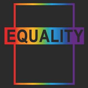 Equality Rainbow T-Shirt - Black