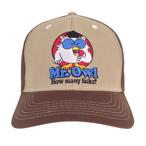 Mr Owl How Many Licks Hat - Tan and Brown