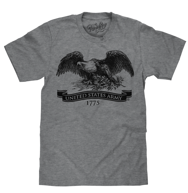 United States Army Eagle 1775 T-Shirt - Gray
