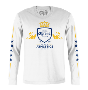 Corona Extra Athletics Stars Long Sleeve T-Shirt - White