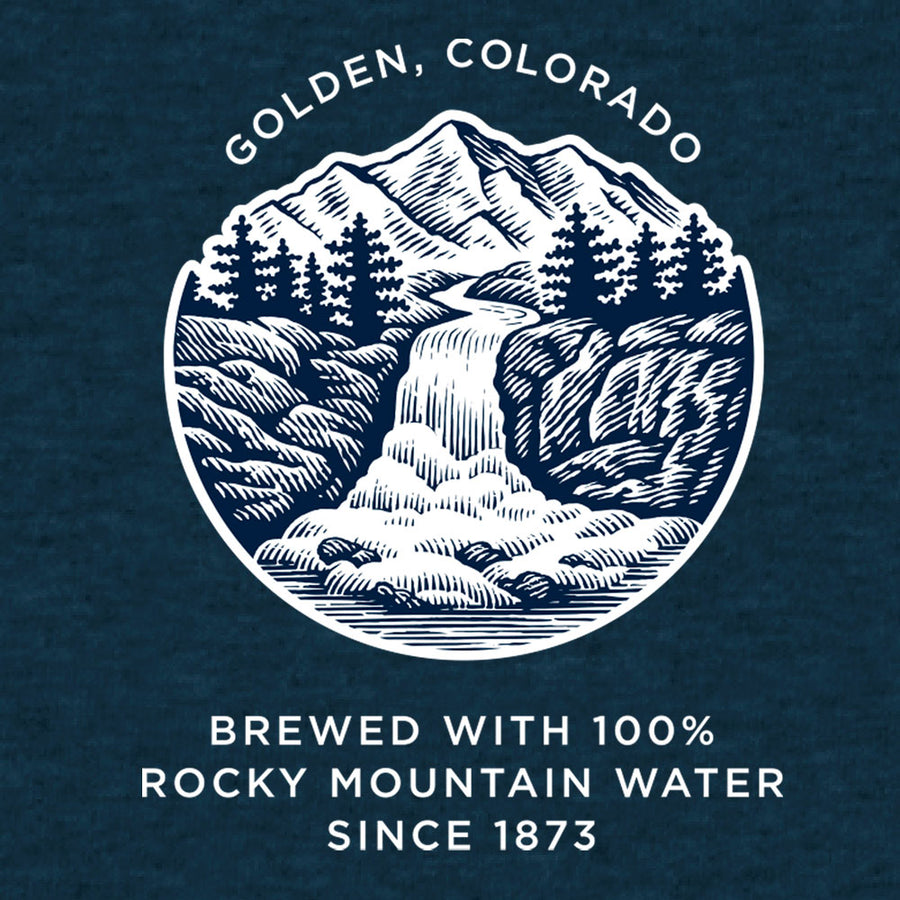 Coors Banquet Golden Colorado T-Shirt - Blue