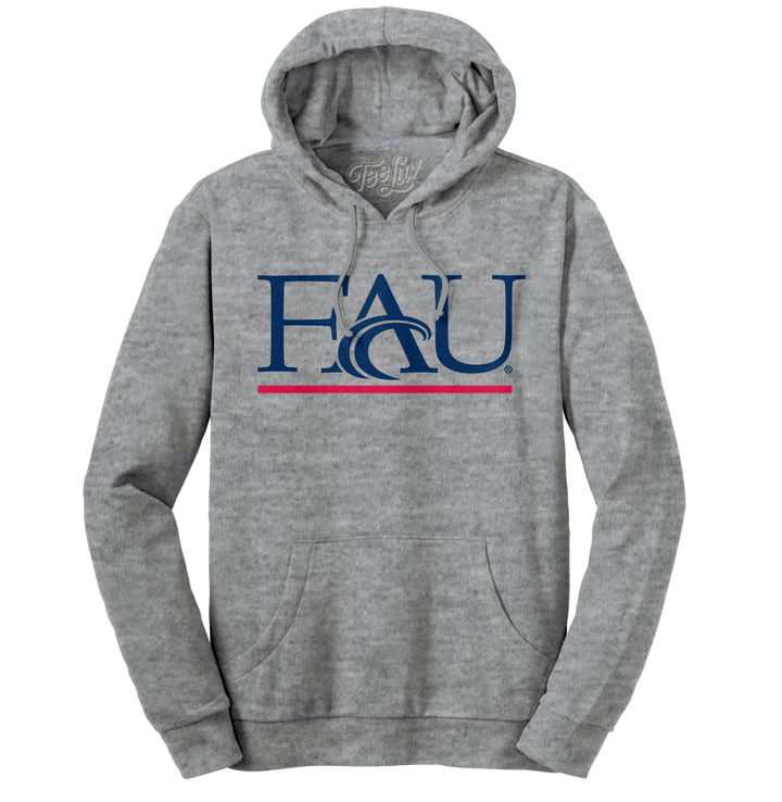 Florida Atlantic University Hooded Sweatshirt - Gray