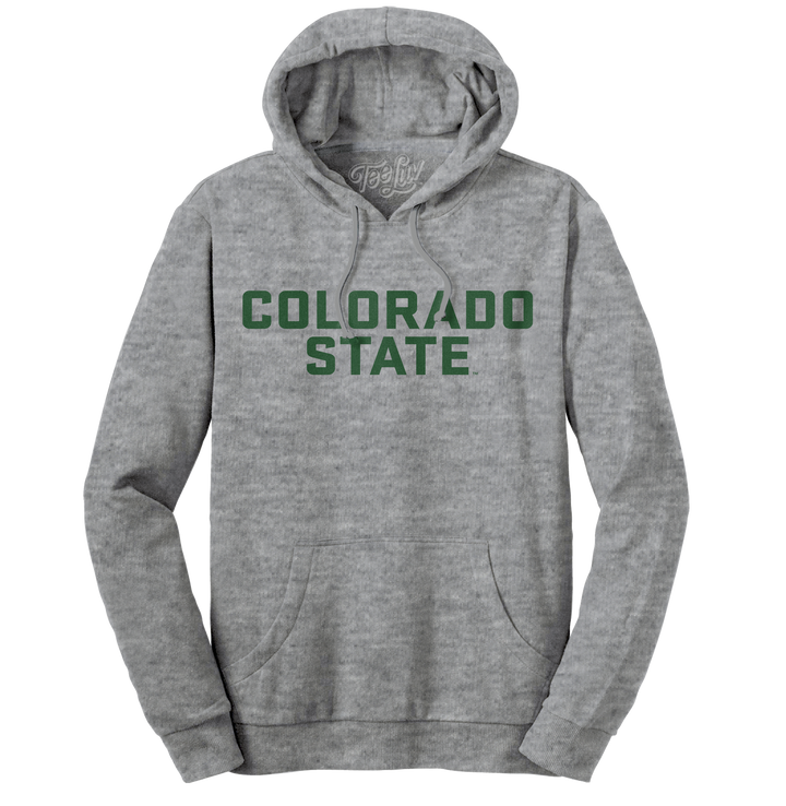 Colorado State University Hooded Sweatshirt - Gray