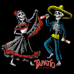 Tapatio Hot Sauce Day Of The Dead T-Shirt - Black