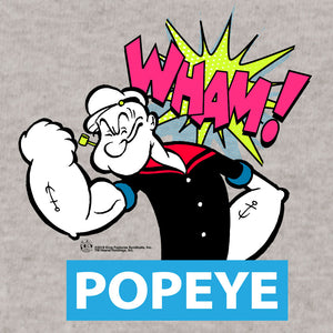 Popeye Big and Tall T-Shirt - Silver Gray
