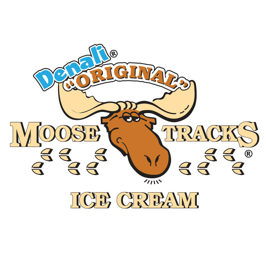 Moose Tracks Ice Cream Ringer T-Shirt - Black and White