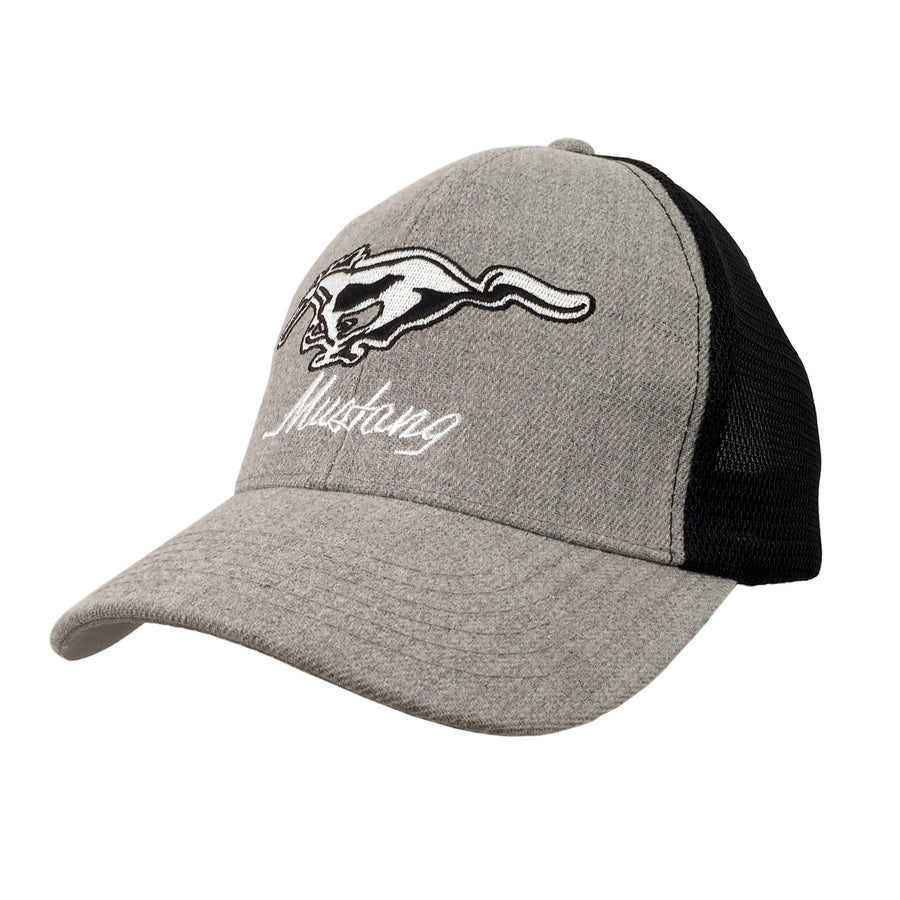 Ford Mustang Trucker Hat - Gray and Black