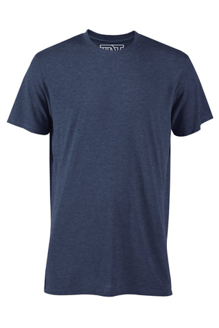 Navy Heather Short Sleeve Tee