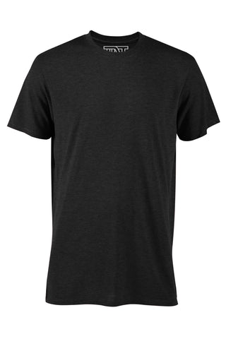 Black Heather Short Sleeve Tri-Blend Tee