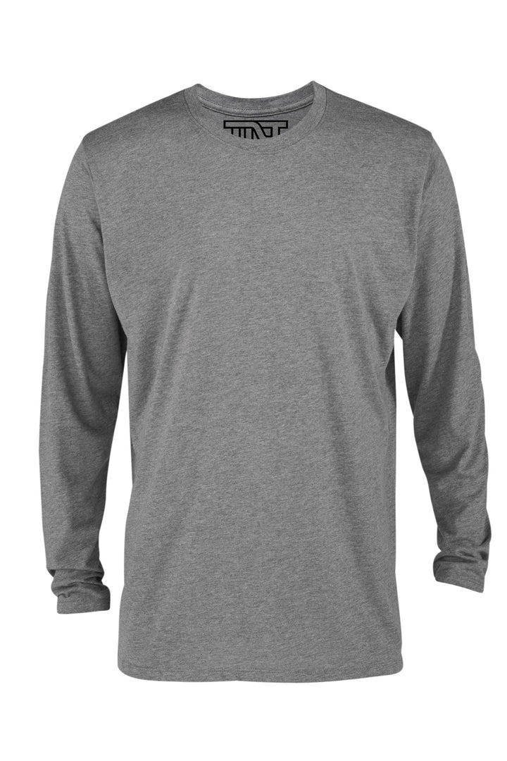 Graphite Heather Long Sleeve T-Shirt - Gray