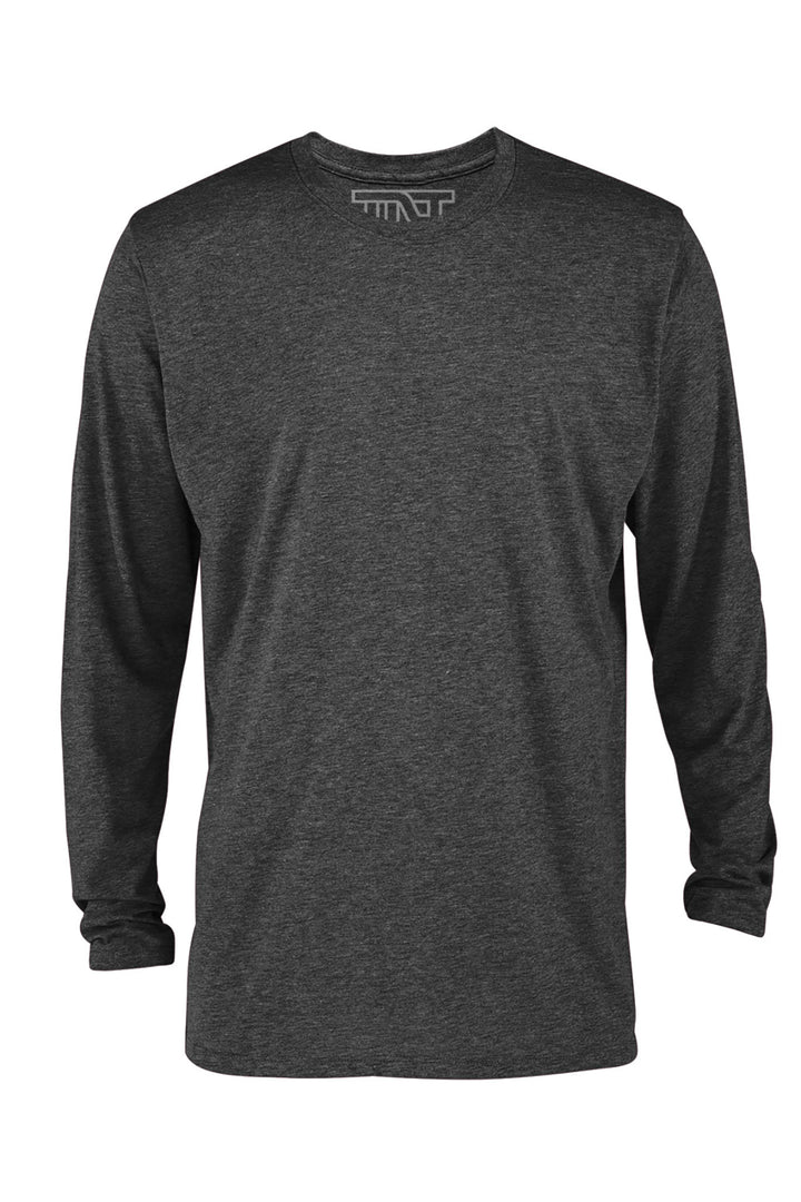 Charcoal Heather Long Sleeve T-Shirt - Gray