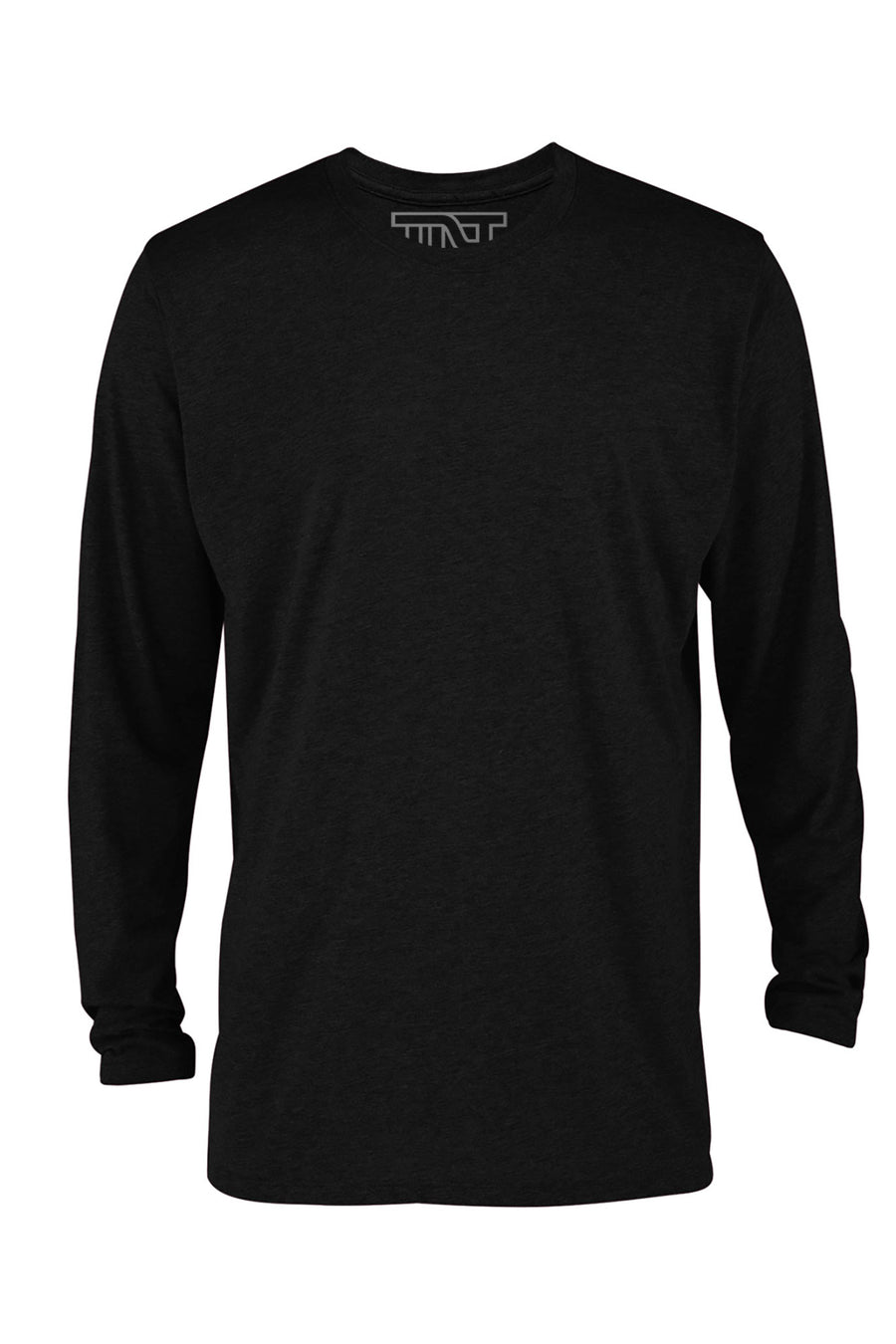 Jet Black Long Sleeve T-Shirt - Black