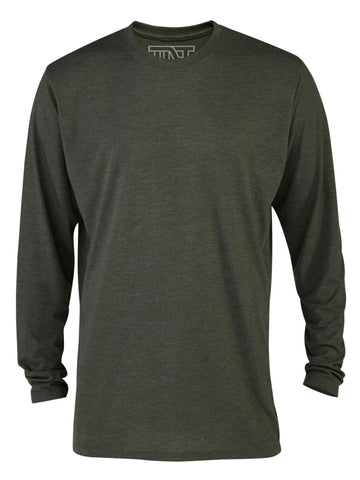 Moss Heather Long Sleeve Tri-Blend Tee