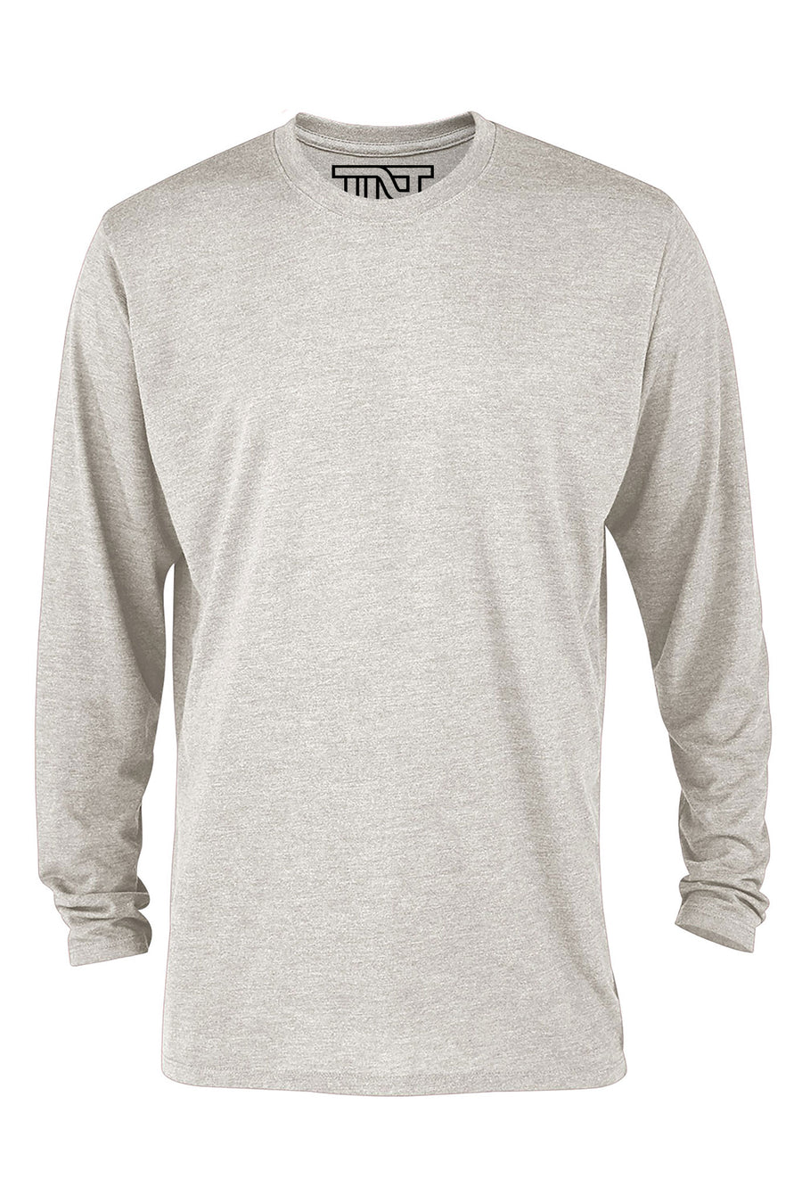 Heather Long Sleeve Tri-Blend T-Shirt - Oatmeal