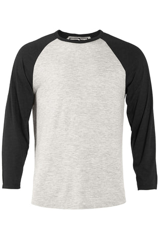 Oatmeal & Black Heather Raglan Tee
