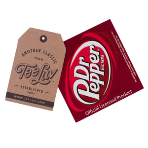 Retro Drink Dr. Pepper Ringer T-Shirt - Beige and Maroon
