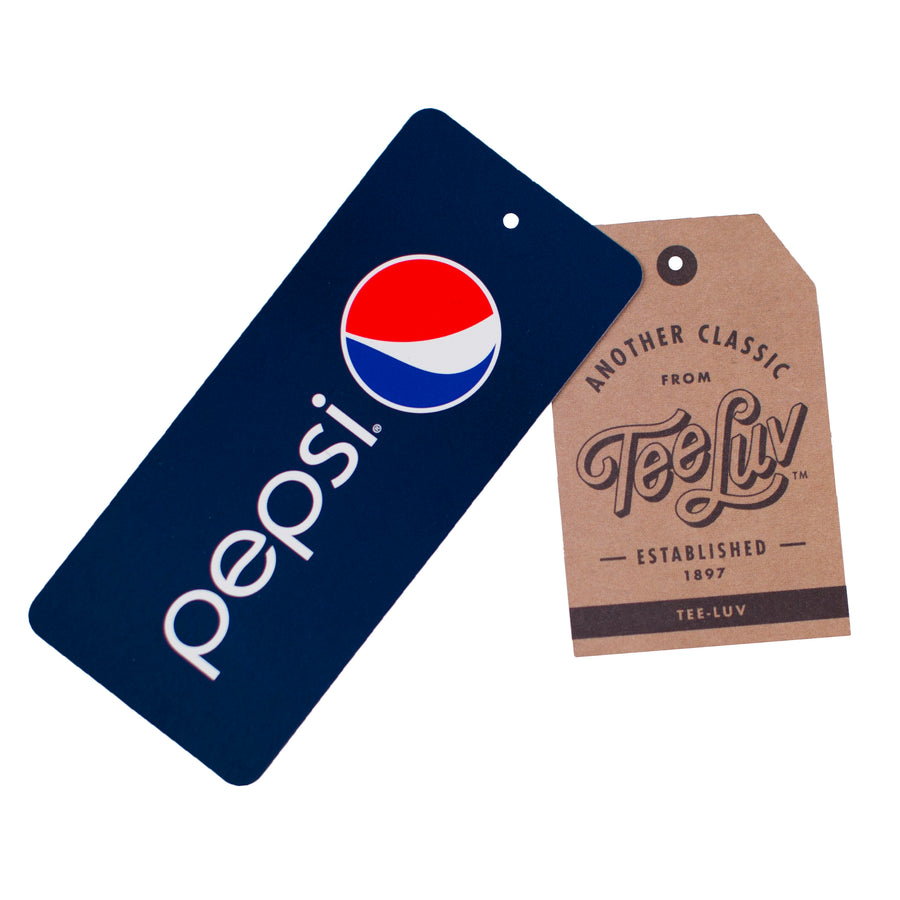 Get Busy, Drink Pepsi Cola Classic Logo T-Shirt - Navy