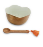 Enamel & Brass Dip Bowl Sets