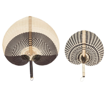Palm Leaf Fan Set of 2