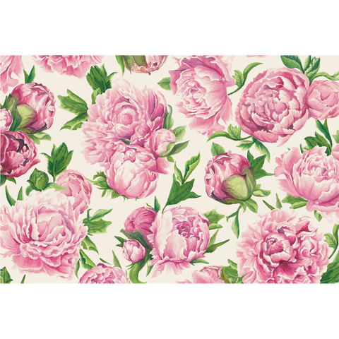Peonies in Bloom Paper Placemats