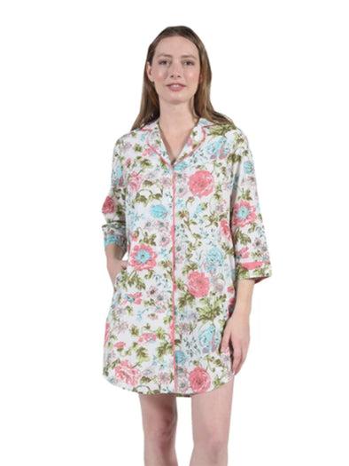 Floral Long Sleep Shirt