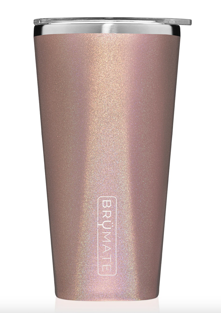 BruMate Imperial Pint - Glitter Rose Gold