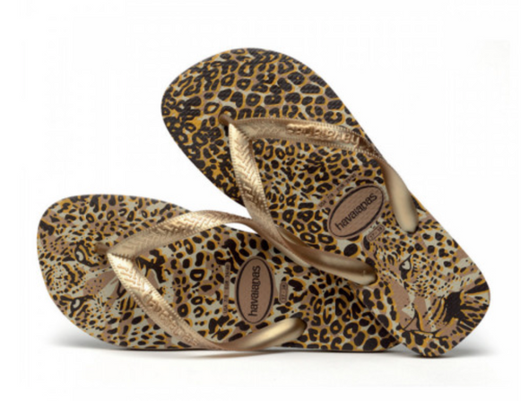 Havaianas Top Flip Flops - Animals Rose Gold