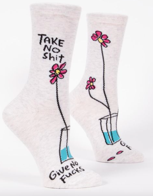 Take No Shit, Give No Fucks Women's Socks by Blue Q