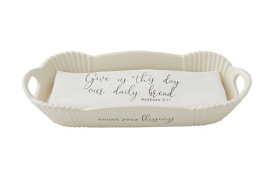 Blessings Bread Bowl & Towel Set
