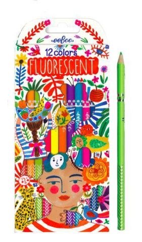 Fluorescent Frida Colored Positivity Pencils