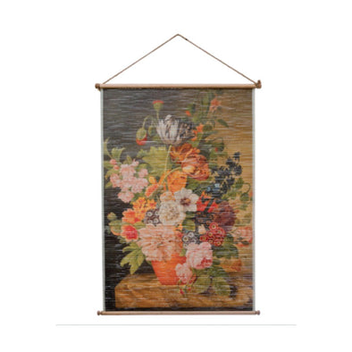 Printed Bamboo Floral Wall Decor