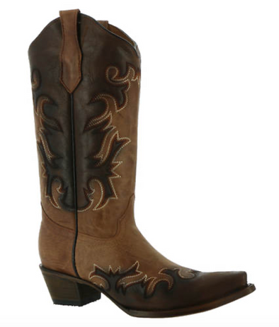 Corral Boots - Shedron & Chocolate Embroidered