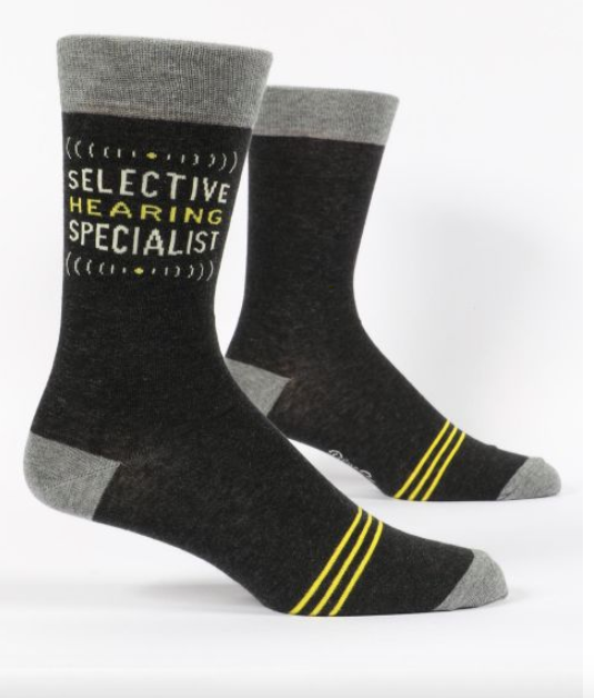 Selective Hearing Specialist Men's Socks by Blue Q