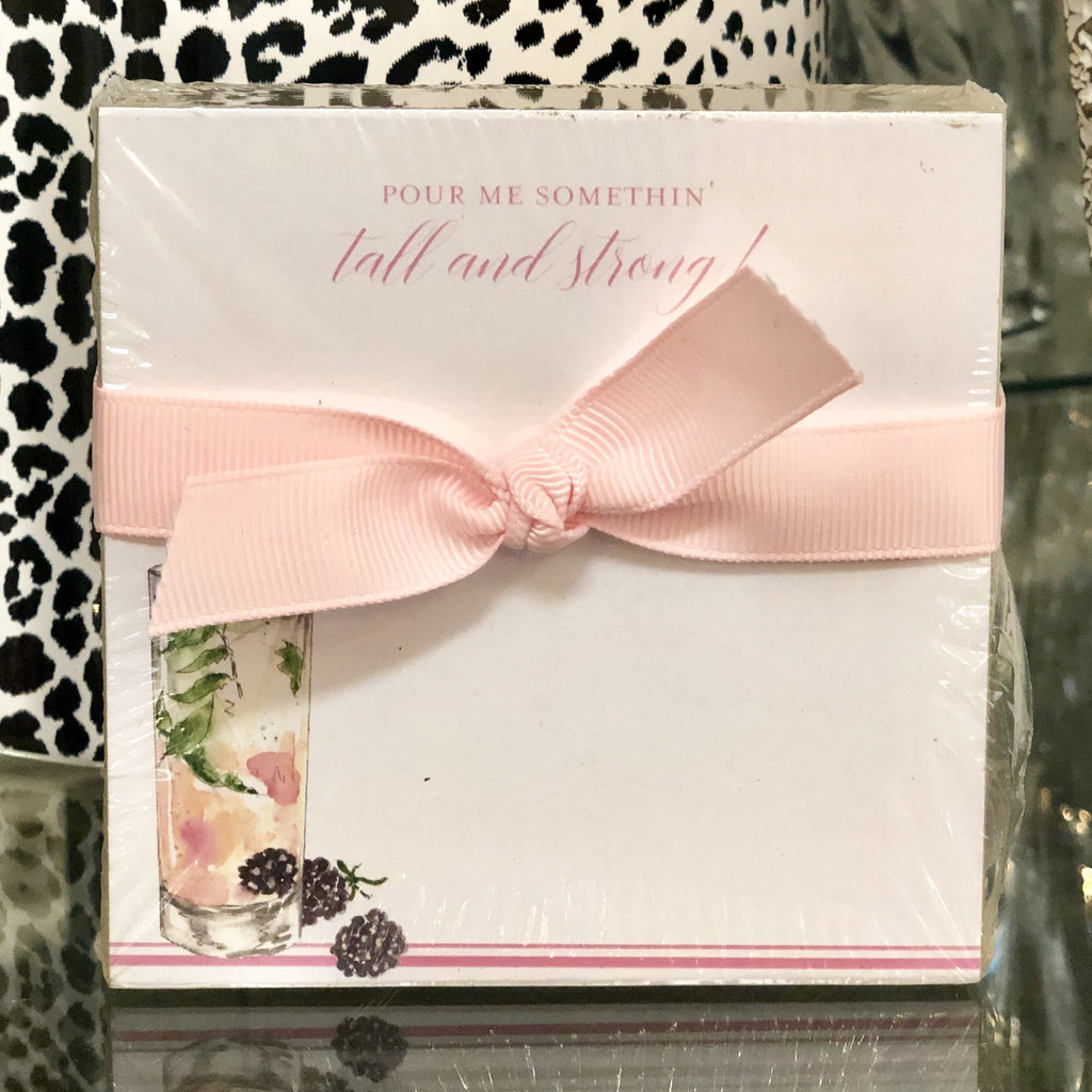 Pour Me Something Tall & Strong! Notepad Gift Set