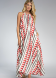 Aztec Print Halter Dress