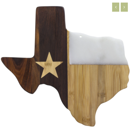 Texas Serving Board with Marble Accent
