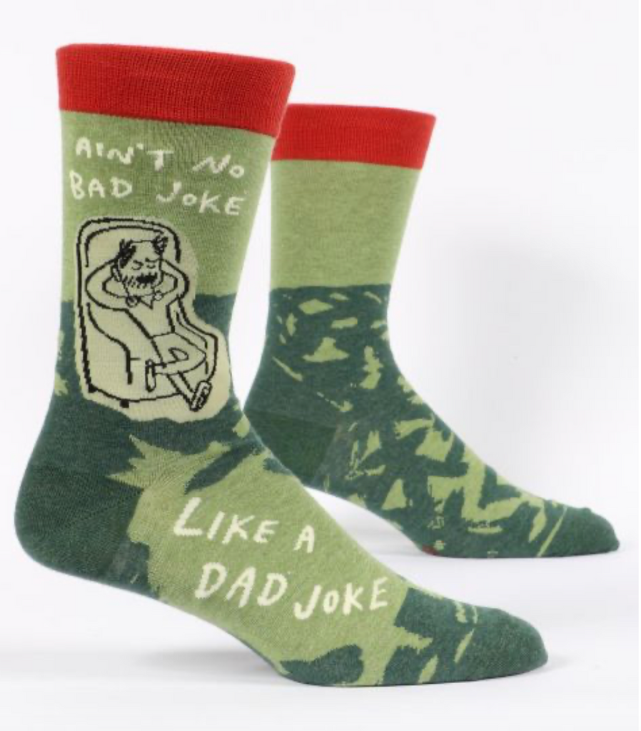 No Bad Joke Like A Dad Joke Men's Socks by Blue Q