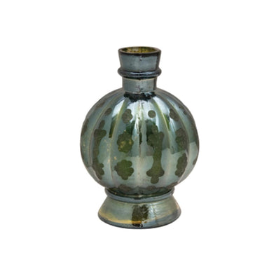 Green Iridescent Glass Vase