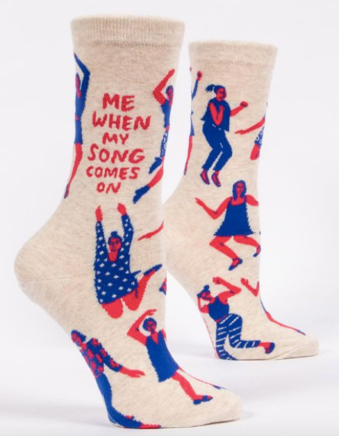 When My Song Comes On Women's Socks by Blue Q