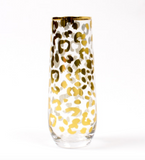 Leopard Print Stemless Champagne Flute
