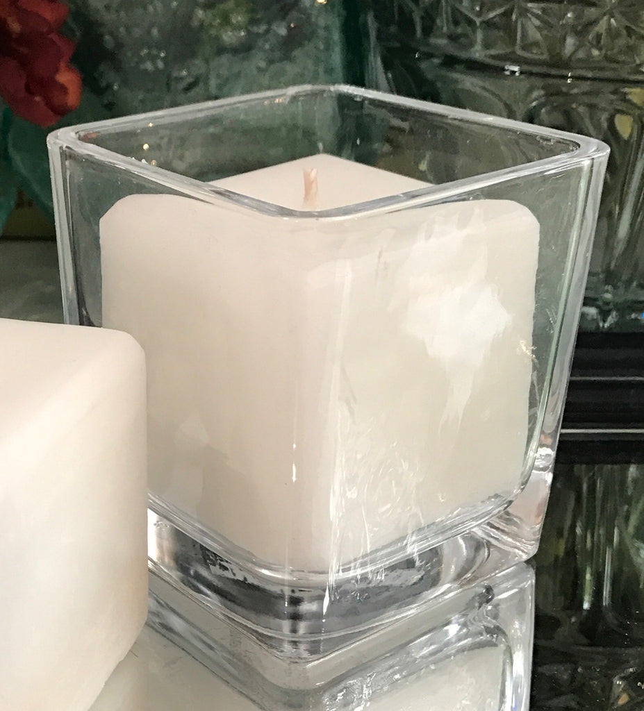 Square Candles Clear Glass Votive Holder