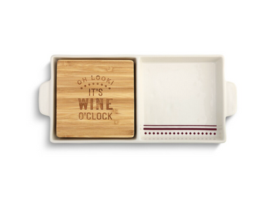 Wine O'Clock, 2 In 1 Serving Dish