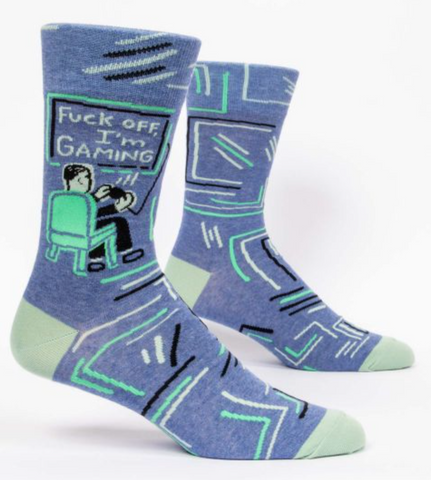 Fuck Off I'm Gaming Men's Socks by Blue Q