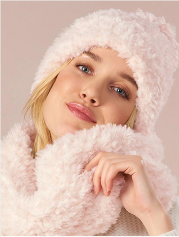 Fuzzy Hat/Scarf Set