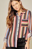 Dreamcatcher Serape Striped Blouse