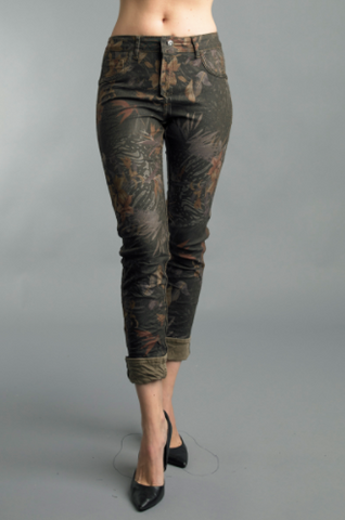 Reversible Jeans in Taupe by Tempo Paris