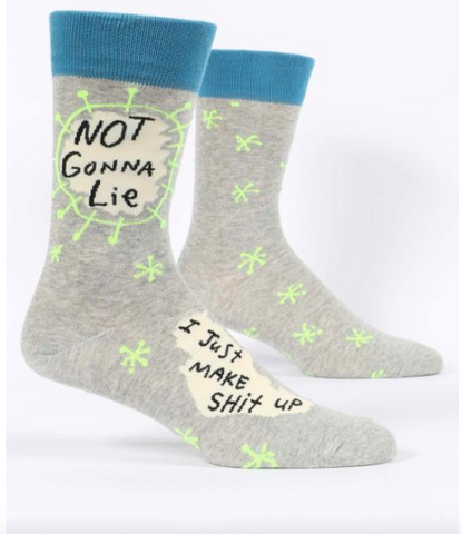 Not Gonna Lie, I Just Make Shit Up Men's Socks by Blue Q